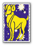 Stamp with Zodiac Royalty Free Stock Image