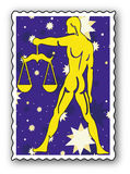 Stamp with Zodiac Stock Image