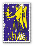 Stamp with Zodiac Stock Photography