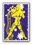 Stamp with Zodiac Stock Images