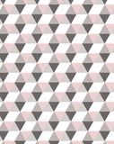 Minimal geometric semless pattern in pastel pink tones, ideal for textile deign royalty free illustration