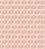 Inspired by 70`s wallpaper feminine vector pattern in pink and coral tones vector illustration