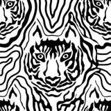 Stampa animale di illusione ottica Fotografia Stock Libera da Diritti