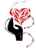 Stampa astratta del cuore Fotografie Stock Libere da Diritti