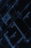 Stampa blu Fotografia Stock