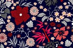 Stampa botanica orientale royalty illustrazione gratis