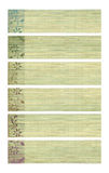 Stampa colorata del fiore dell'inchiostro sulle bandiere di carta di bambù Immagine Stock