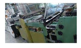 Stampa commerciale di stampa digitale di ampio formato immagini stock
