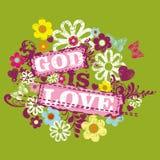 Stampa cristiana Il dio è amore royalty illustrazione gratis