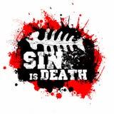 Stampa cristiana Il peccato è morte illustrazione di stock