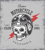 Stampa d'annata del motociclo illustrazione di stock