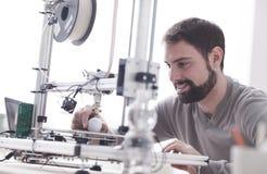 stampa 3D in laboratorio Immagine Stock Libera da Diritti