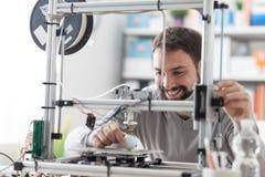 stampa 3D in laboratorio Fotografie Stock Libere da Diritti