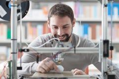 stampa 3D in laboratorio Immagini Stock