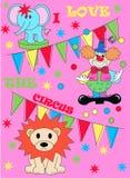 Stampa del circo Fotografia Stock