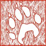 Stampa del lupo Immagini Stock