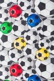 stampa del pallone da calcio del tessuto disegnata modo BO-noioso Immagini Stock Libere da Diritti