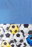 stampa del pallone da calcio del tessuto disegnata modo BO-noioso Fotografie Stock
