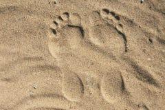 Stampa del piede Immagine Stock Libera da Diritti
