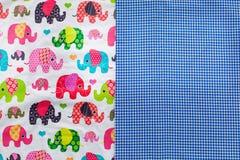 stampa dell'elefante del tessuto disegnata modo BO-noioso Fotografie Stock