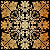 Stampa dell'ornamento della bandana di Paisley di vettore Foulard di seta, cuscino, progettazione interna del modello del quadrat Immagini Stock