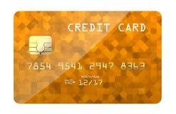 Stampa dell'oro della carta di credito Fotografie Stock Libere da Diritti