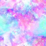 Stampa dell'universo della galassia di esplosione di colore illustrazione di stock