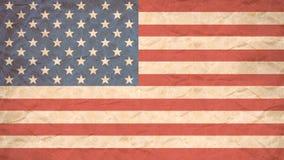Stampa della bandiera di U.S.A. sulla carta per manifesti di lerciume Fotografia Stock Libera da Diritti