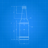 Stampa della bottiglia di birra Immagine Stock