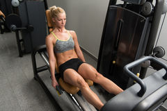 Stampa della gamba di allenamento Fotografia Stock