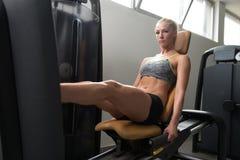 Stampa della gamba di allenamento Immagine Stock
