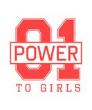 Stampa della maglietta di sport di modo per le ragazze con potere dell'iscrizione 01 alle ragazze Può essere usato come progettaz royalty illustrazione gratis