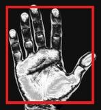 Stampa della mano Fotografia Stock Libera da Diritti