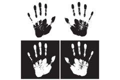 Stampa della mano Immagine Stock