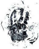 Stampa della mano di Grunge Fotografie Stock Libere da Diritti