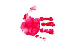 Stampa della mano. Priorità bassa Immagine Stock Libera da Diritti