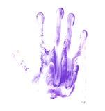 Stampa della pittura dell'olio di palma della mano Immagini Stock Libere da Diritti