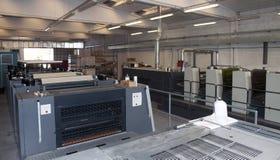 Stampa della pressa - macchina di derivazione Immagini Stock