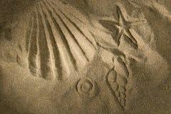 Stampa della sabbia fotografie stock libere da diritti