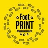 Stampa della scarpa Fotografie Stock