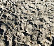 Stampa della scarpa sulla sabbia Fotografia Stock Libera da Diritti