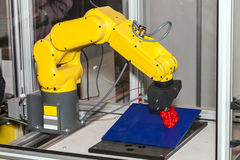 Stampa della stampante del robot 3d Immagine Stock Libera da Diritti