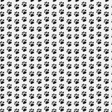 Stampa della zampa senza cuciture Modello senza cuciture di orma del gatto e del cane Illustrazione di vettore Fotografia Stock