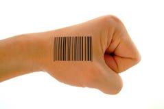 Stampa di codice a barre sul pugno Immagine Stock Libera da Diritti