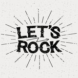 Stampa di musica rock Fotografia Stock