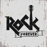 Stampa di musica rock Fotografie Stock Libere da Diritti