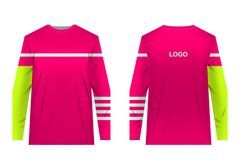 Stampa di sublimazione degli abiti sportivi immagini stock