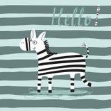 Stampa di vettore della zebra del fumetto Fotografia Stock