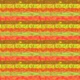 Stampa disegnata a mano per tessuto in toni marrone-rosso caldi illustrazione di stock