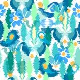 Stampa floreale di stile del batik Immagine Stock Libera da Diritti